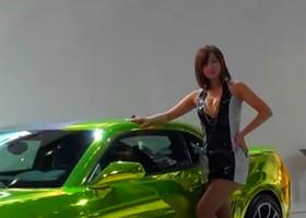 2013韩国首尔国际车展韩国车模萌翻了