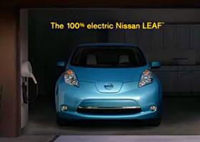 0的意义:Nissan LEAF电动汽车广告