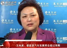 王凤英:新能源汽车发展将会超过预期