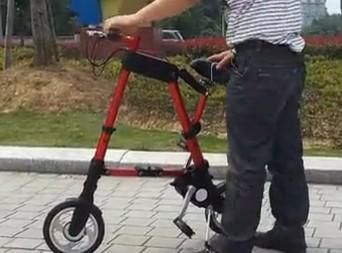 10寸锂电ABIKE折叠电动自行车展示