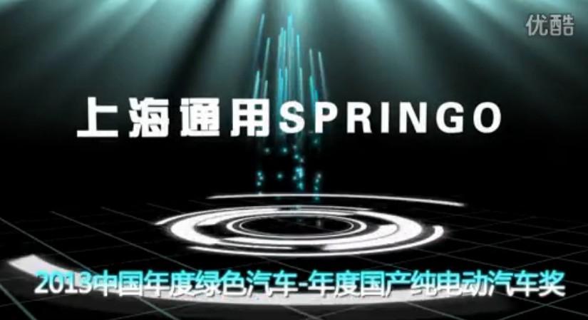 上海通用Springo-年度国产纯电动汽车奖