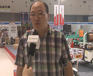 2014南京展中国电动车网专访赛克车业