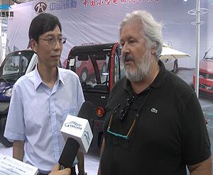 2014济南新能源展中国电动汽车网专访奥特姆新能源