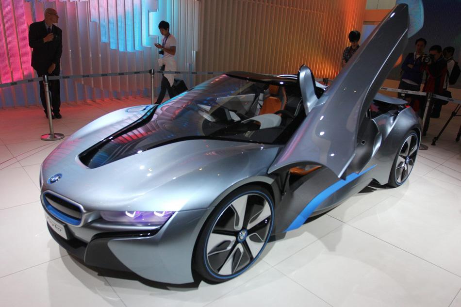 2012北京车展上,宝马展出其混合动力概念车i8 spyder,宝马i8高清图片
