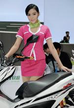 2013南京电动车展绿源展台车模