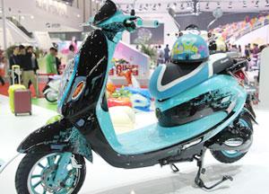 大款電動自行車(藍色)