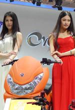 天津展电动自行车车模