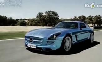 奔驰SLS AMG电动超跑完美展现超酷身姿