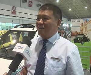 2014北京展中国电动汽车网专访山东兰基新能源汽车
