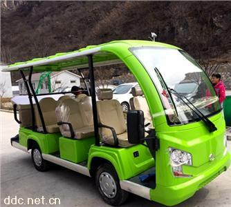 傲森敞篷式11座四轮景区电动观光车