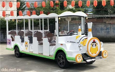 绿能达可定制颜色小火车款14座电动观光车