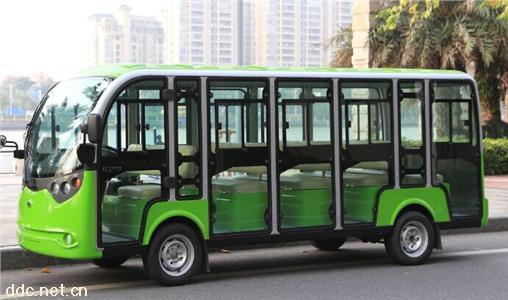 绿能达豪华高配14座电动封闭观光车